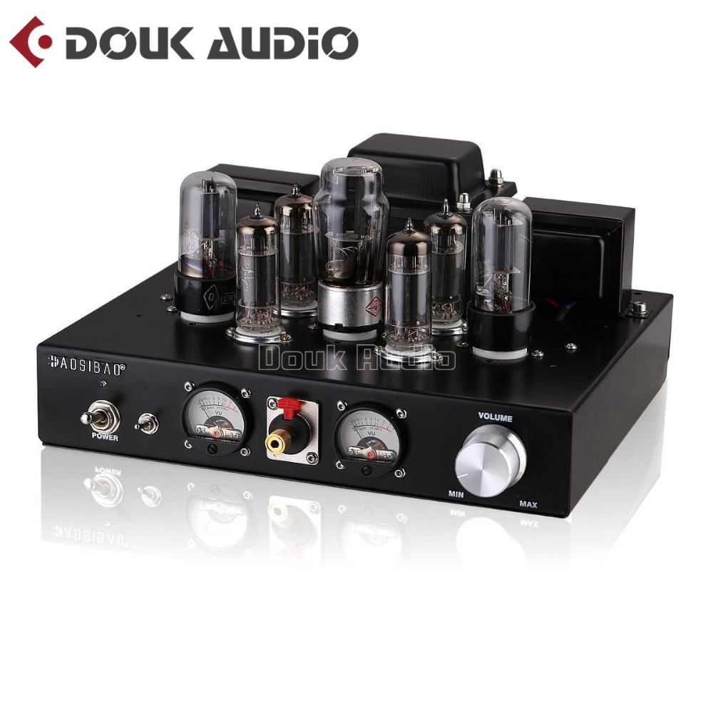 2017 New Nobsound Handmade Stereo Single-ended Class A Headphone Amp HiFi 6P1 Vacuum Tube Integrated Amplifier Black hifi stereo 6n2 6p1 single ended class a tube amplifier amp board diy kit