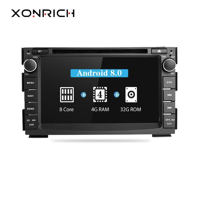 2 din Car Radio Android 8.0 Car DVD Player For Kia Ceed 2010 Kia Venga 2011 2012 Multimedia GPS Glonass Navigation Audio Wifi 4G