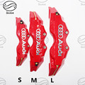 Car-Styling 2PCS ABS Resin Universal Car Auto Disc Brake Caliper Covers Front Rear Car Styling For Audi A4 B6 A3 A6 C5 Q7 A1 A5