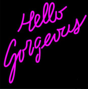 Custom Hello Gorgeous Glass Neon Light Sign Beer Bar