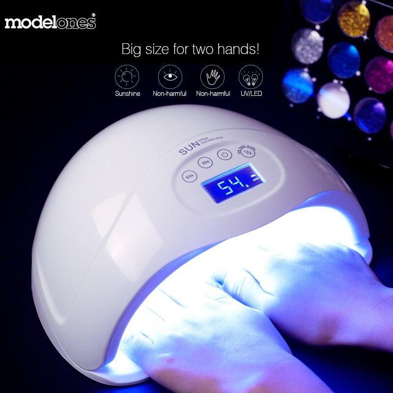 Modelones SUN5 plus 48W Dual UV Led Lamp Nail Dryer For All Types Gel 24Leds UV