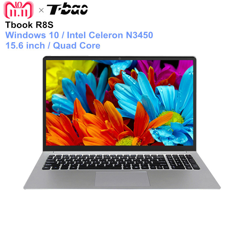 English Version T-bao Tbook R8S Laptop 15.6'' Windows 10 Intel Celeron N3450 Quad Core PC 1.1GHz 6GB 128GB HDMI Notebook t bao air 2 notebook 13 3 inch windows 10 intel celeron n3450 quad core 1 1ghz 6gb ddr4 ram 128gb emmc hdmi english version