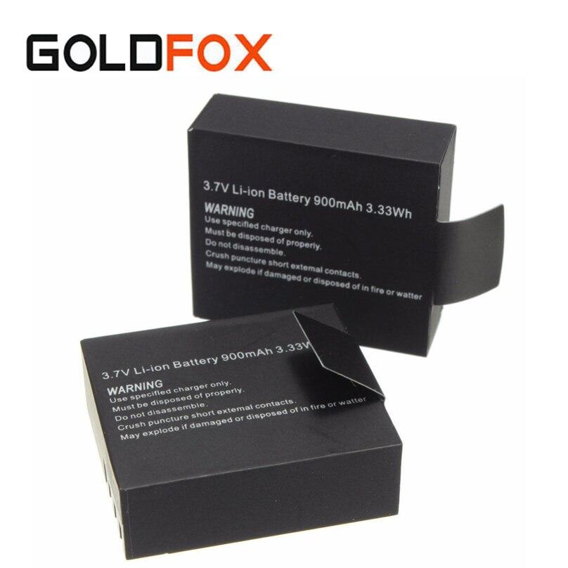 2x900 mAh SJ4000 SJ5000 SJ6000 Rechargeable Li-ion Batterie pour SJCAM SJ 4000 5000 Sport Caméra DV Remplacement Batteria Bateria