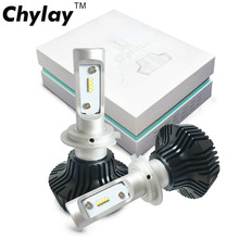Chylay 2pcs Car Headlight H4 Led H7 H11 H3 H1 9005 9006 ZES Chips 50W 8000LM Auto Front Headlamp Bulb 6500K Car Styling Lighting