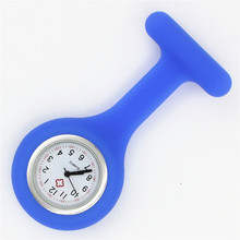 silicone nurse watch fob pocket quartz medical watch dots doctor nursing lapel gift hospital health brooch watch wholesale