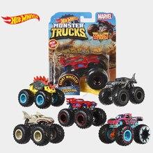 Hot Wheels автомобиль MONSTER TRUCKS большая нога подключения и крушение автомобиля коллектор издание металл литья под давлением модели автомобилей детские игрушки подарок