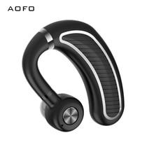 AOFO Single Rotate Earphone,Anti-sweat Sport Headphone,Ear Hook Waterproof Earbud,True Wireless BT Earpiece