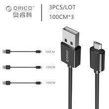 Orico micro usb 2.0 зарядка кабель для передачи данных длиной 100 см * 3 для смартфонов 3 шт./лот для samsung xiaomi lg android-телефон-(ADC-S2)