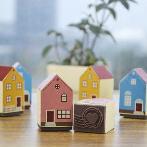Wooden Rubber Stamps Wood Diy Decoration  Mediterranean Style House Full Of Romantic Love Free Shipping full house