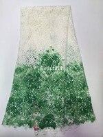 Branca de neve impresso Africano cabo de rendas Suíço net 100% poliéster Guipure Francês material de tecido para roupas de costura vestido de 5 metros
