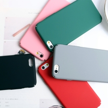 Hard Mobile Phone Cases For Apple Iphone 5 5S SE 6 6S 7 7 Plus Covers Matte Plastic PC Phone Bags For Iphone5S 6S 7 Plus