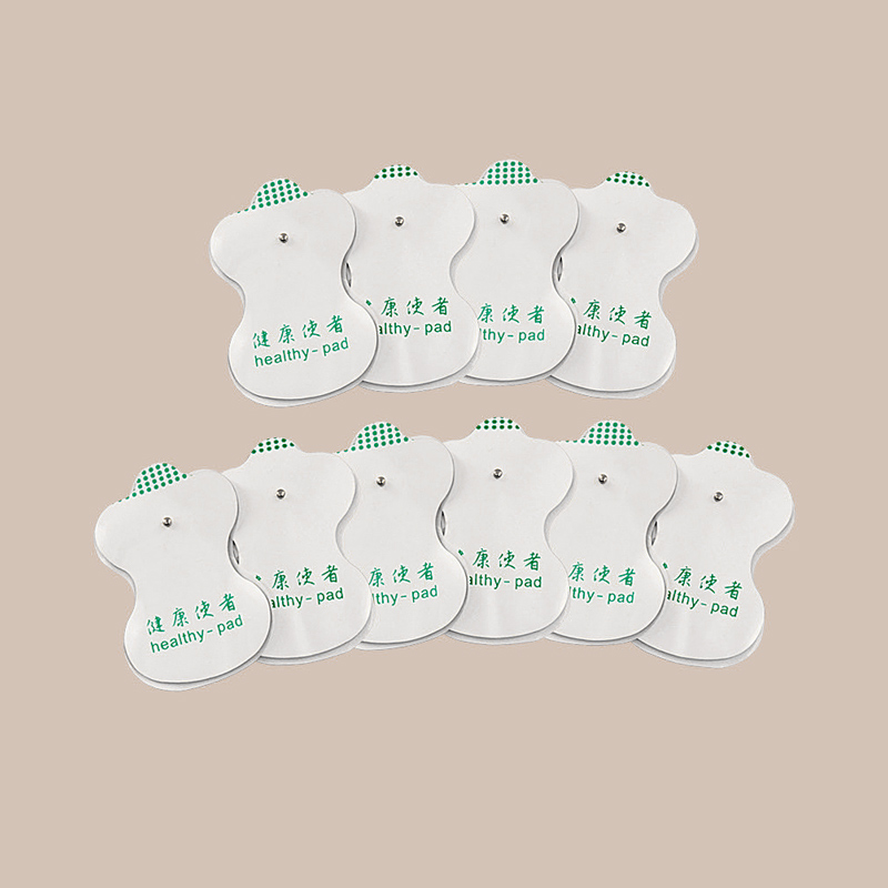 10PCS Portable Health White Electrode Pads Digital For Tens Acupuncture Digital Therapy Machine Massager Pad Medium Frequency-in Massage & Relaxation from Beauty & Health