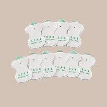 Almohadillas de electrodos blancos digitales portátiles de 10 Uds para la salud para Tens acupuntura máquina de Terapia Digital almohadilla de masaje frecuencia media