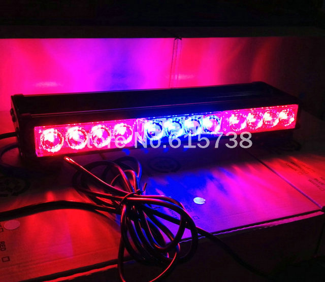 Free Shipping double Sides 24 LED car roof lightbar Strobe light flash lamp Emergency Vehicle Light 24w beacon light 12 24 led fire tow lightbar red blue ceiling strobe free shipping