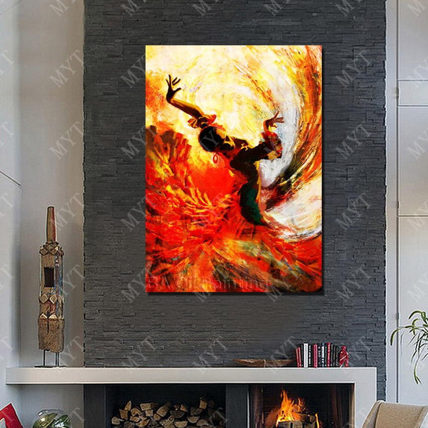 Top quality designer home decoration spain dancing wall art paintnig for home sense decor art painting gallery in painting calligraphy from home garden