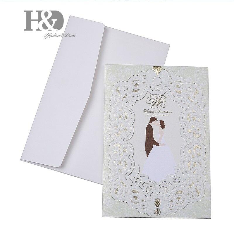 H&D 1pcs Sample Wedding Invitations Laser Cutting