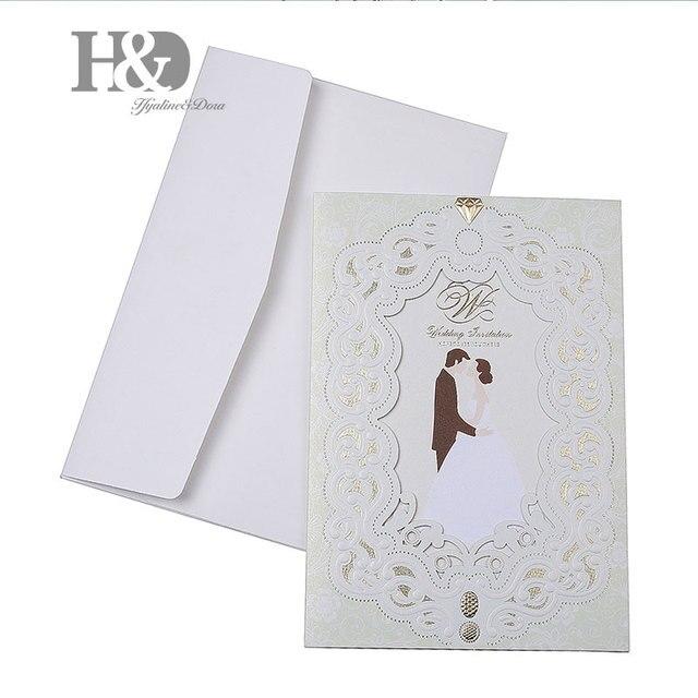 h d 1pcs sample wedding invitations laser cutting invitation card