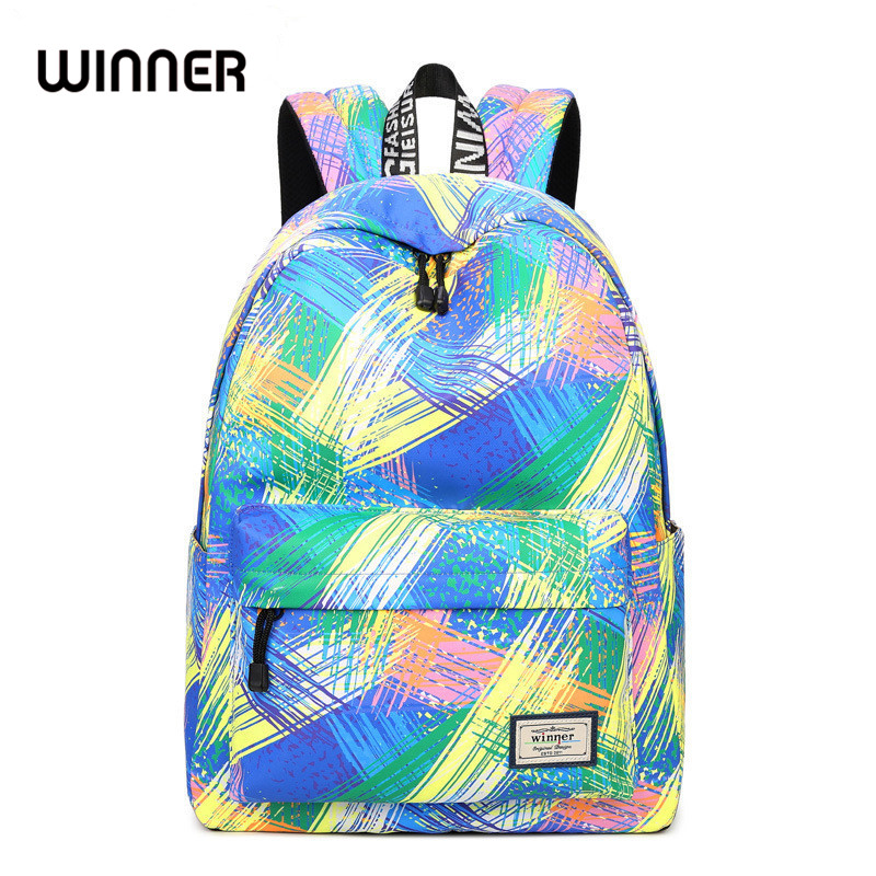 Fashion Women Waterproof Backpack School Bag Personality Printing Large  Capacity Girls Knapsack Back Packs Travelling Bags 1199d1de1c71b