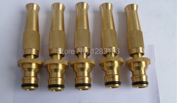 High Quality Brass Adjustable Sprinkler High Pressure Water Gun Adjustable  Rotating Spray Nozzle Garden Tool