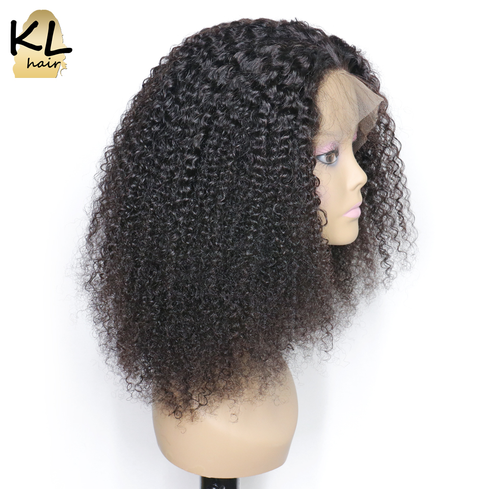 Afro Kinky Curly Lace Front Human Hair Wigs For Black Women Pre Plucked 13 4 Brazilian