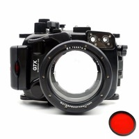 Meikon 40M/130F Underwater waterproof camera housings case for Canon G7X (8.8 36.8mm)+MEIKON Red Filter 67mm