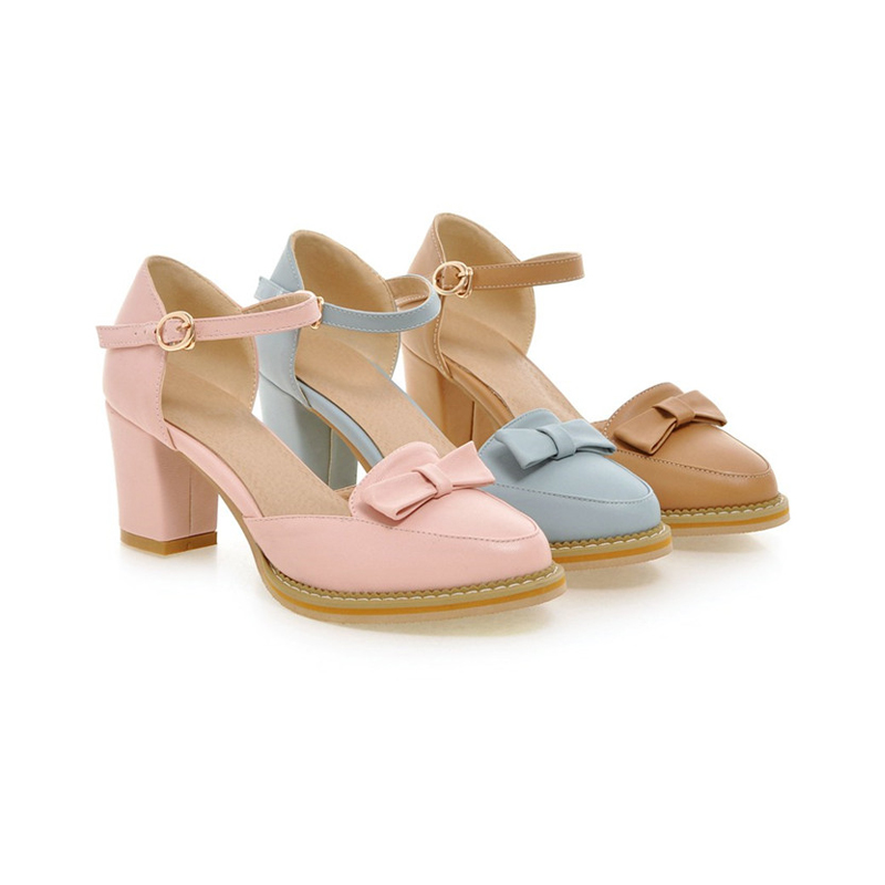 KarinLuna kwaliteit dames enkelriem stevige vierkante hakken schoenen - Damesschoenen - Foto 6
