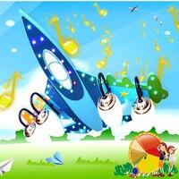 Airplane wood led lamp Bluetooth Speakers 110V 220V E14 Led bulb children ceiling lights children room ceiling lights kids