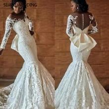 SIJANEWEDDING Full Mermaid Wedding Dresses Long Sleeve