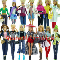 New Arrival 3 Sets Original Dolls Outfit Clothing Fashionable Dresses For Barbie Doll Casual Dress Suits