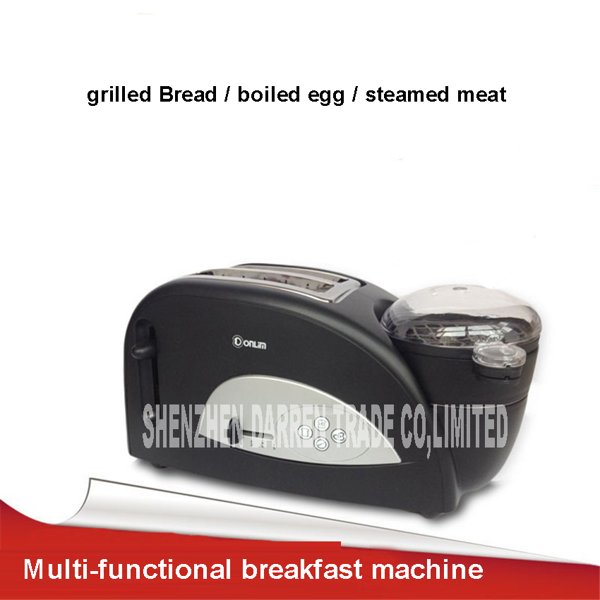XB-8002 Household 220V multi-functional breakfast toast oven toaster machine with a boiled egg 1000-1200W stainless steel cukyi toaster household automatic multi function breakfast machine egg boiler stainless steel electric baking pan heating oven