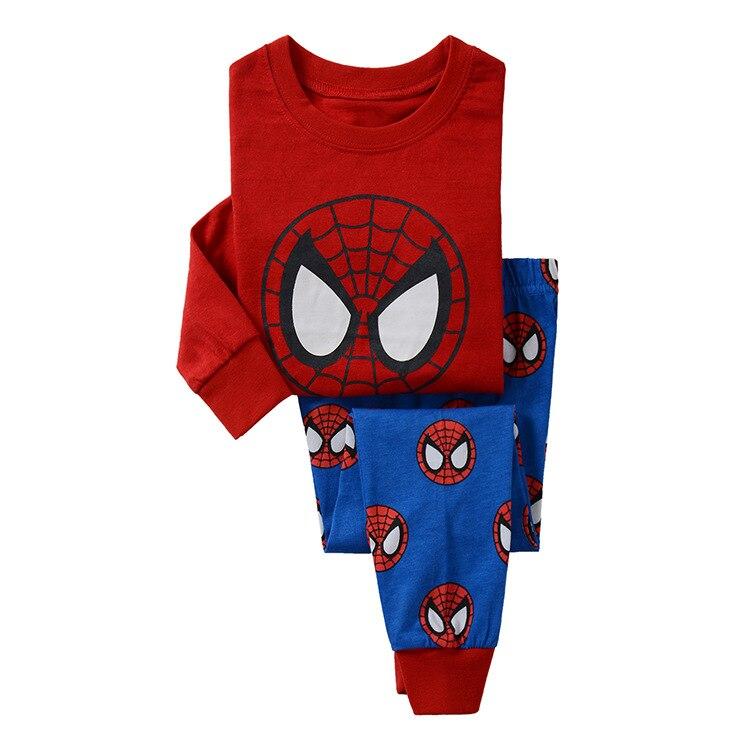 CostumeBuy Superman Spider-man Hero Pajamas Set Suit Children Boys Girls Baby Clothing Kids Long-sleeved Sleepwear