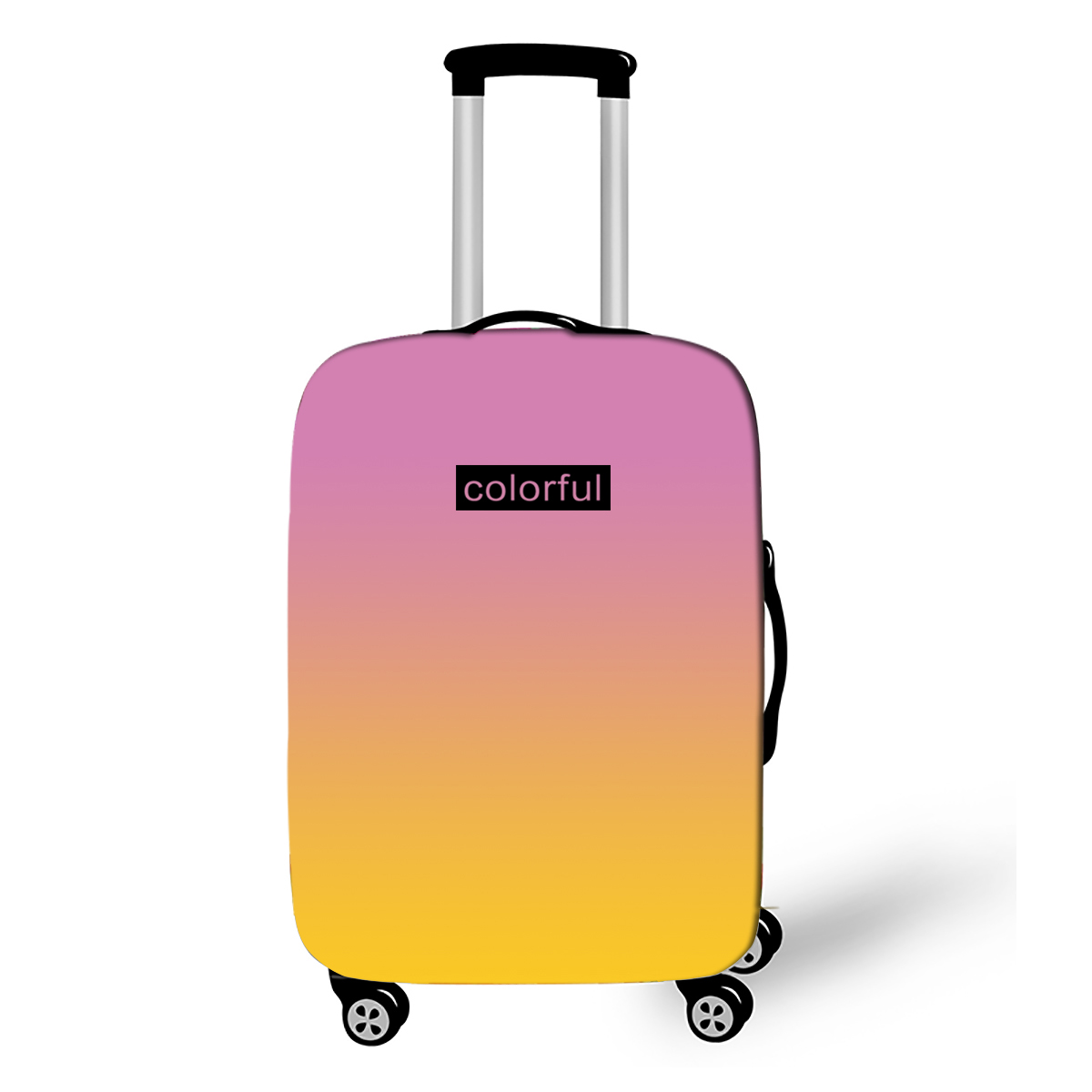 Gradient Color Suitcase Elastic Protective Cover Luggage Cover Travel Accessories Suitable 18-28 Inch Travel Trolley Case