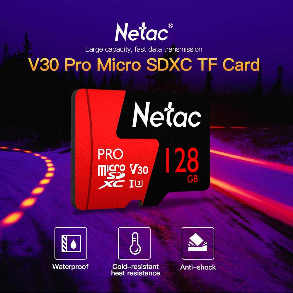 Netac 128GB 64GB Pro Micro SDXC TF Memory Card Data Storage V30/UHS-I U3 High Speed Up to 98MB/s 64 gb 128 gb micro sd tf cards