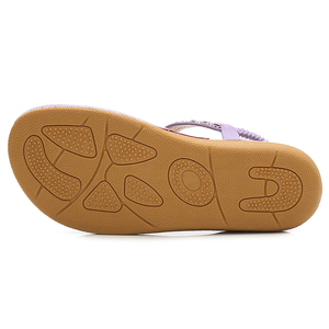 Image 5 - BEYARNE אלסטי להקת נשים סנדלי קש מחרוזת ואגלי פלטפורמת דירות סנדלי חם חוף נעלי אישה בתוספת גודל 36 44E665