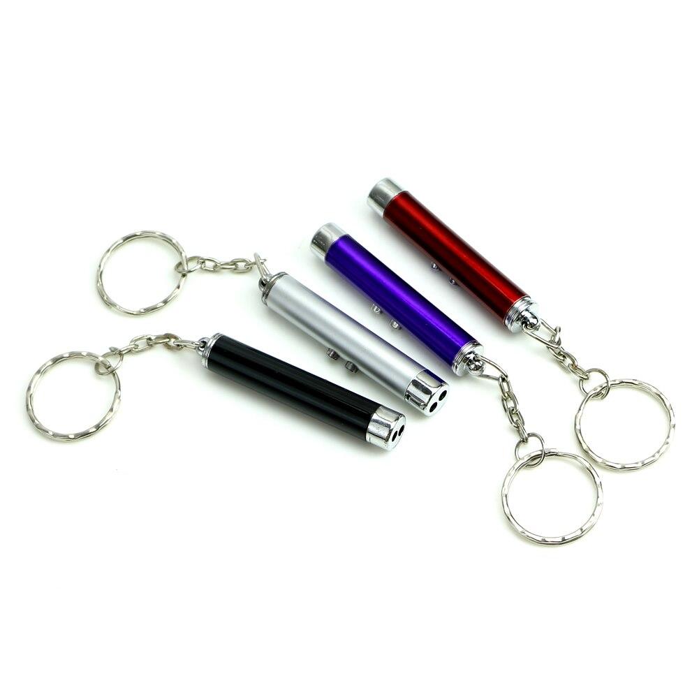 Mini 2 In1 Multi-function Flashlight Red Laser Pointer Pen White LED Light Torch
