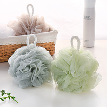 1Pcs Bath Ball Flower Mesh Brushes Sponges For Wisp Dry Brush Exfoliation Cleaning Equipment Solid Rich Bubbles Sponge