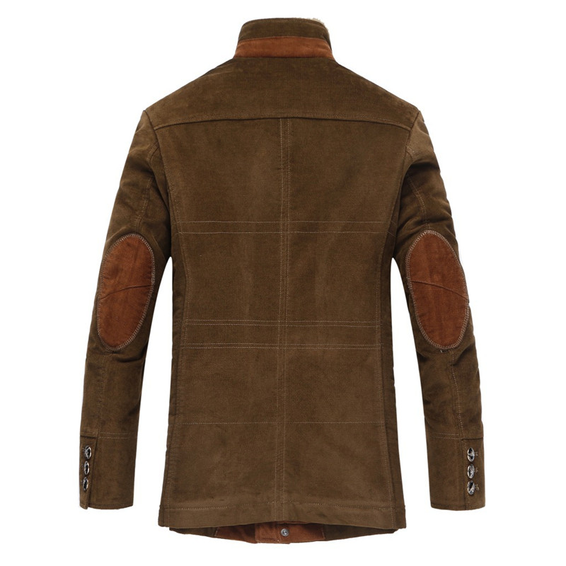 Зимние Утепленные классические пальто, мужская деловая куртка, высокое качество, шерстяной Повседневный Тренч, Мужская ветровка, размеры от M до 6XL, 7XL - 3