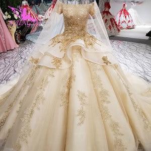 Image 5 - AIJINGYU איטלקי חתונה שמלות מלאך שמלות כלה מקלחת ארוך אירוסין גלימת נצנצים כדור סקסי אביזרי יוקרה תחרה כלה