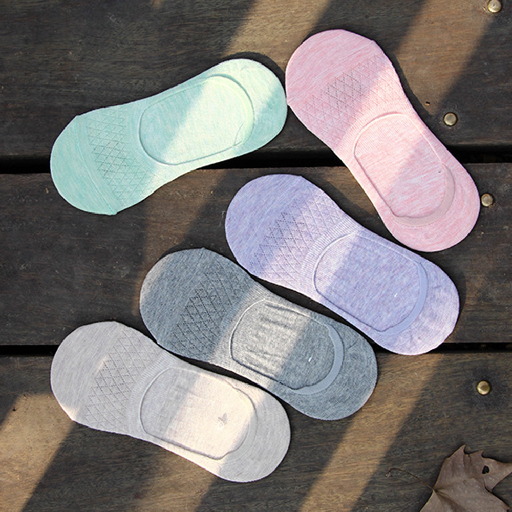 Socks AOWOFS 2018 New Harajuku 5pair/set Women Fashion Breathable Anti-Slip Sweat Absorbing Invisible Mesh Ankle Socks 10pair