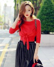 Dabuwawa Oansatz Rot Sexy Elegante Blusen Mode Casual Tops Für Damen Langarm  Baumwolle Bluse Frauen Tops ef9e3163e8