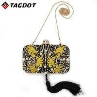 Tagdot 2017 אופנה פנינת תיק ערב שקיות מצמד ערב נשים רקמת תיק כתף שקיות מצמד יום מצמד תיק לילה