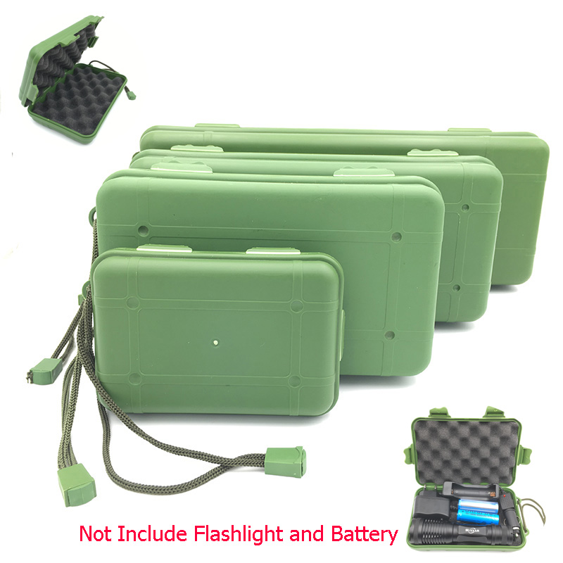 zk10 Waterproof Anti Fall Green Plastic Storage Box For Flashlight Light Torch Lamp Battery Charger Case with 5 Size c1cy plastic hanging storage box green