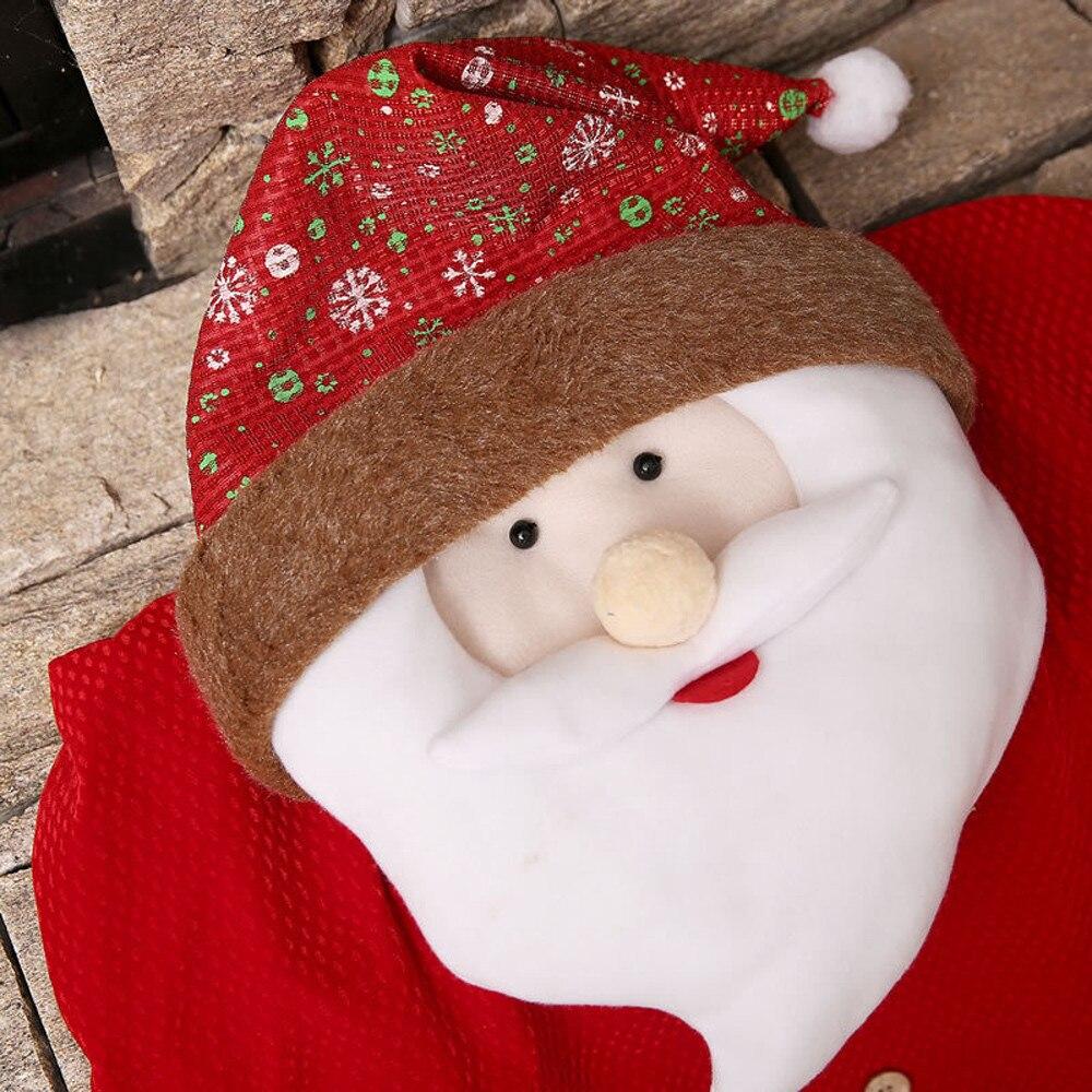 Us 948 11 Offświęty Mikołaj Czapka Krzesło Pokrywa Boże Narodzenie Stół Obiadowy Party Czerwony Kapelusz Krzesło Z Powrotem Pokrywa Xmas Strona