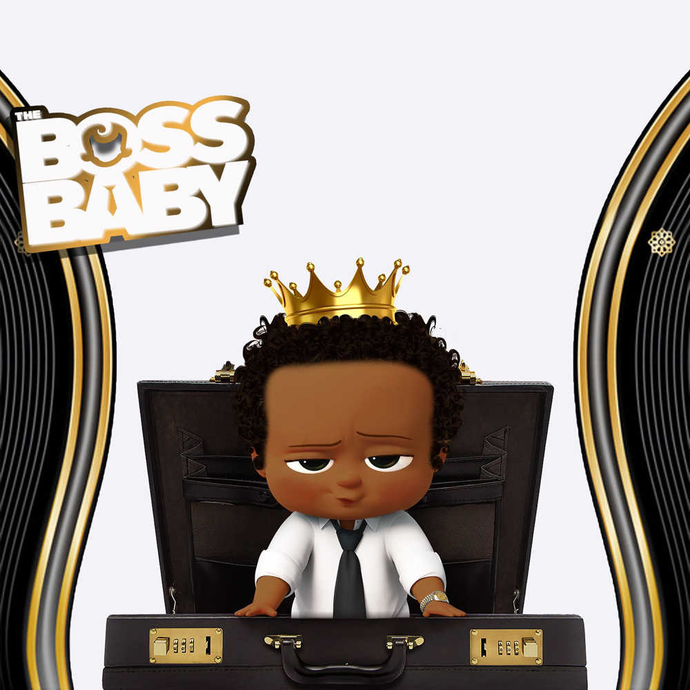 Huayi Photo Backdrop Paper Boss Baby Theme Backgrounds For
