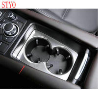 STYO Car ABS  cup holder trim moulding For LHD Mazdas 3 AXELA M3 2017 2018