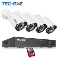 Techege 4MP CCTV Surveillance Kit 4CH DVR 1080P 2K Video Output 4mp 2560 1440 Security AHD