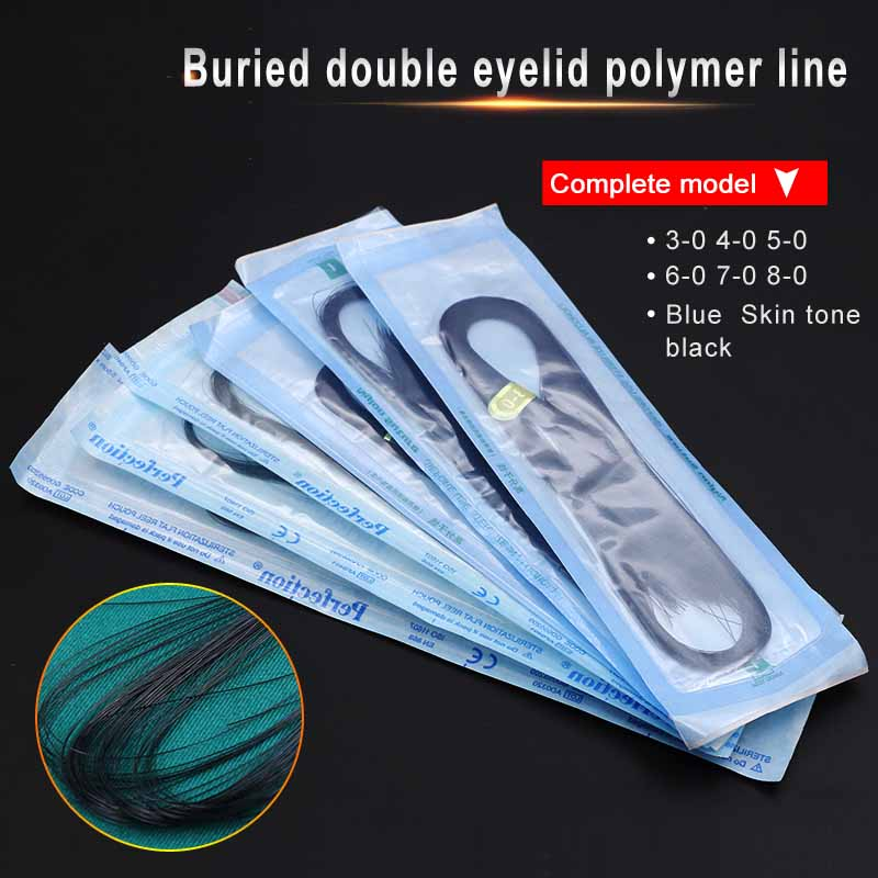 Cosmetic Plastic Surgery Equipment Nano-free Buried Wire Double Eyelid Nylon Line Domestic Polymer Suture Black Blue 5-0 6-0 7-0