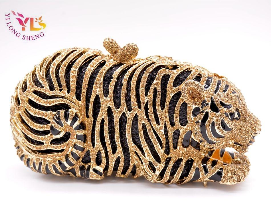 Tygrysia torebka kryształowa Damska torebka w kształcie szalonego - Torebki - Zdjęcie 2