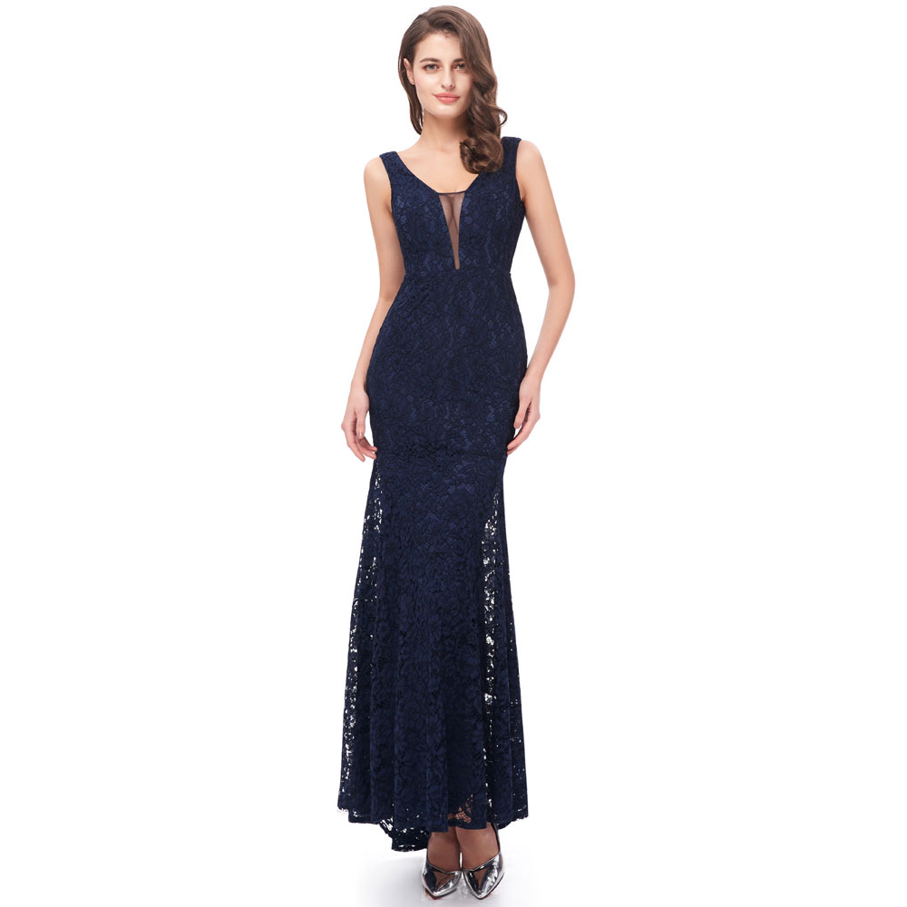 Beauty Emily Navy Blue Burgundy Lace Formal Party   Prom     Dresses   2019 Long for Women Mermaid for Girl Homecoming   Dresses