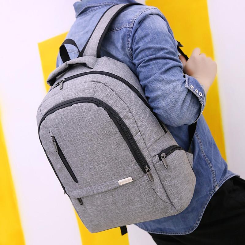 Waterproof Laptop Casual Backpacks Men Backpacks For Computer School Travel Bags Boy Travel Waterproof Anti-Theft Notebook Black